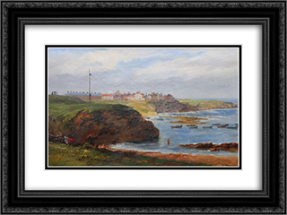 Cullercoats from the South by John Wilson Carmichael 24x18 Black or Gold Ornate Framed and Double Matted Art Print by John Wilson Carmichael