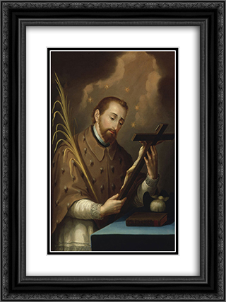 San Juan Nepomuceno 18x24 Black or Gold Ornate Framed and Double Matted Art Print by Jose Campeche