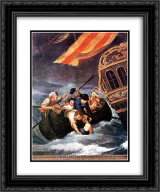 The Rescue of Don Ramon Power y Giralt 20x24 Black or Gold Ornate Framed and Double Matted Art Print by Jose Campeche