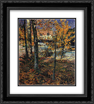 Autumn 20x22 Black or Gold Ornate Framed and Double Matted Art Print by Jose Malhoa