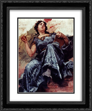 Figura decorativa 20x24 Black or Gold Ornate Framed and Double Matted Art Print by Jose Malhoa
