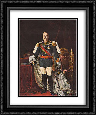 Portrait of Carlos I of Portugal 20x24 Black or Gold Ornate Framed and Double Matted Art Print by Jose Malhoa