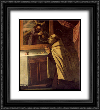 VisÆ'o de SÆ'o JoÆ'o da Cruz 20x22 Black or Gold Ornate Framed and Double Matted Art Print by Josefa de Obidos