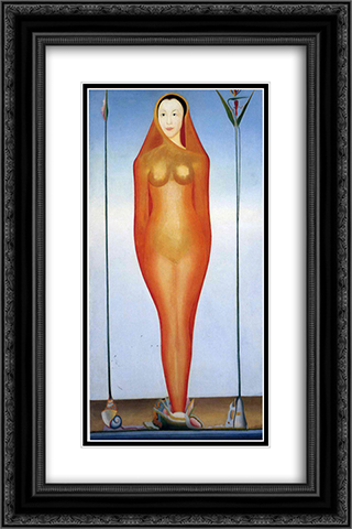 A Vision 16x24 Black or Gold Ornate Framed and Double Matted Art Print by Joseph Stella