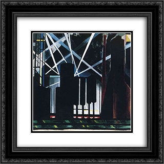 By-Products Plants 20x20 Black or Gold Ornate Framed and Double Matted Art Print by Joseph Stella