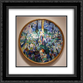 Coney Island 20x20 Black or Gold Ornate Framed and Double Matted Art Print by Joseph Stella
