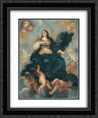 Assumption of the Virgin 20x24 Black or Gold Ornate Framed and Double Matted Art Print by Juan Carreno de Miranda