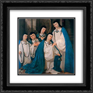 Catholic Nuns Wearing Their Rarely-Seen Away Uniforms 20x20 Black or Gold Ornate Framed and Double Matted Art Print by Juan Carreno de Miranda