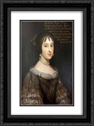 Claudia Felicitas of Austria 18x24 Black or Gold Ornate Framed and Double Matted Art Print by Juan Carreno de Miranda