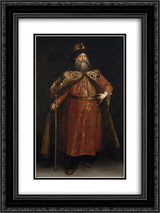 El embajador de Rusia Peter Ivanovich Potemkin 18x24 Black or Gold Ornate Framed and Double Matted Art Print by Juan Carreno de Miranda