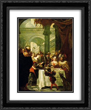 Irod's feast 20x24 Black or Gold Ornate Framed and Double Matted Art Print by Juan Carreno de Miranda