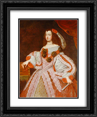 La Infanta Maria Teresa 20x24 Black or Gold Ornate Framed and Double Matted Art Print by Juan Carreno de Miranda
