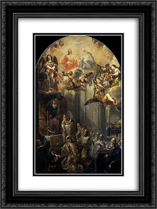 Mass of St John of Mathaa 18x24 Black or Gold Ornate Framed and Double Matted Art Print by Juan Carreno de Miranda