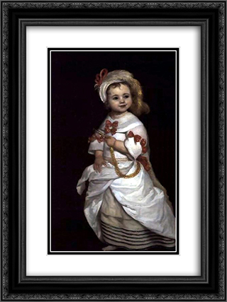 Portrait of a infanta 18x24 Black or Gold Ornate Framed and Double Matted Art Print by Juan Carreno de Miranda