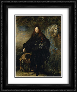 Portrait of the Duke of Pastrana 20x24 Black or Gold Ornate Framed and Double Matted Art Print by Juan Carreno de Miranda