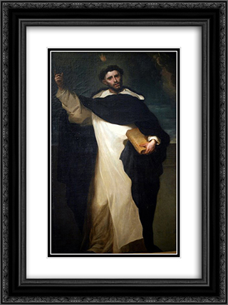 Saint Vincent Ferrer 18x24 Black or Gold Ornate Framed and Double Matted Art Print by Juan Carreno de Miranda