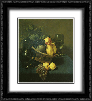Still life 20x22 Black or Gold Ornate Framed and Double Matted Art Print by Judith Leyster