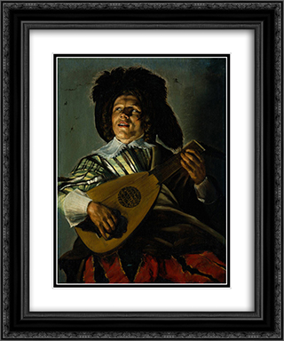 The serenade 20x24 Black or Gold Ornate Framed and Double Matted Art Print by Judith Leyster