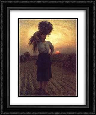 Harvesters 20x24 Black or Gold Ornate Framed and Double Matted Art Print by Jules Breton