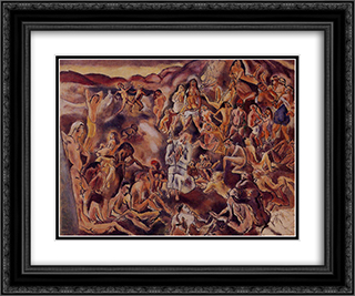 The Temptation of Saint Anthony 24x20 Black or Gold Ornate Framed and Double Matted Art Print by Jules Pascin