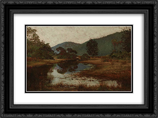 A waterhole on the Hawkesbury River 24x18 Black or Gold Ornate Framed and Double Matted Art Print by Julian Ashton