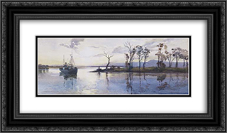 Mouth of the Goulburn River 24x14 Black or Gold Ornate Framed and Double Matted Art Print by Julian Ashton
