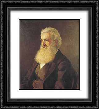 Portrait of Louis Buvelot 20x22 Black or Gold Ornate Framed and Double Matted Art Print by Julian Ashton