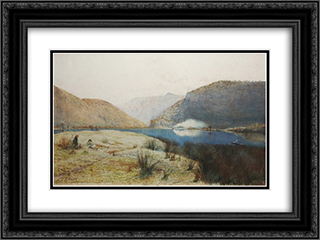 Sentry-box Reach, Hawkesbury River, New South Wales 24x18 Black or Gold Ornate Framed and Double Matted Art Print by Julian Ashton