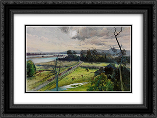 Shoalhaven River, junction with Broughton Creek, New South Wales 24x18 Black or Gold Ornate Framed and Double Matted Art Print by Julian Ashton
