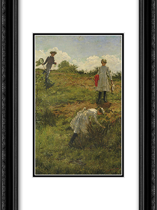 Summer Holidays 18x24 Black or Gold Ornate Framed and Double Matted Art Print by Julian Ashton