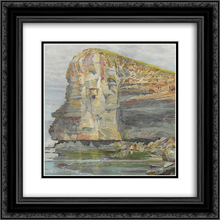 Terrigal Headland, New South Wales 20x20 Black or Gold Ornate Framed and Double Matted Art Print by Julian Ashton