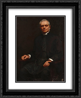 The Reverend Canon Boyce 20x24 Black or Gold Ornate Framed and Double Matted Art Print by Julian Ashton