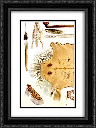 Inside Front Cover [ Left ] 18x24 Black or Gold Ornate Framed and Double Matted Art Print by Karl Bodmer