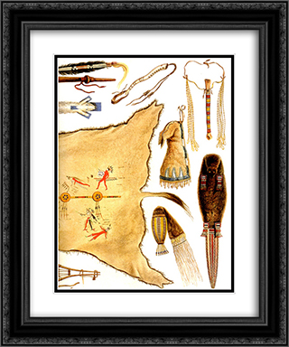 Inside Front Cover [ Right ] 20x24 Black or Gold Ornate Framed and Double Matted Art Print by Karl Bodmer