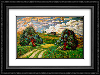 Apres l'orage 24x18 Black or Gold Ornate Framed and Double Matted Art Print by Karl Edvard Diriks