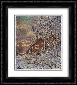 From Drobak 20x22 Black or Gold Ornate Framed and Double Matted Art Print by Karl Edvard Diriks