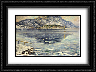 Islosning 24x18 Black or Gold Ornate Framed and Double Matted Art Print by Karl Edvard Diriks