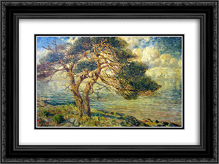 Pin au bord de la mer 24x18 Black or Gold Ornate Framed and Double Matted Art Print by Karl Edvard Diriks