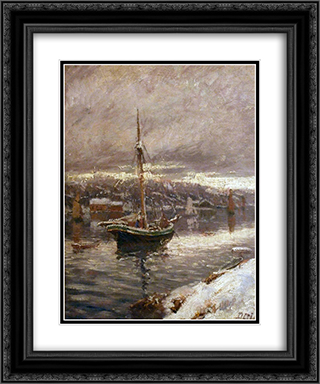 unknown title 20x24 Black or Gold Ornate Framed and Double Matted Art Print by Karl Edvard Diriks