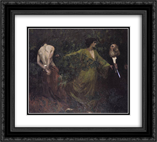 Abraham's Sacrifice 22x20 Black or Gold Ornate Framed and Double Matted Art Print by Karoly Ferenczy