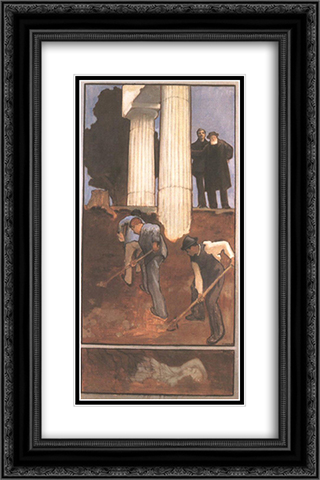 Archaeology 16x24 Black or Gold Ornate Framed and Double Matted Art Print by Karoly Ferenczy