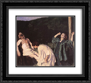 Deposition from the Cross 22x20 Black or Gold Ornate Framed and Double Matted Art Print by Karoly Ferenczy