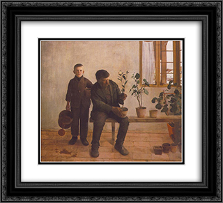 Gardeners 22x20 Black or Gold Ornate Framed and Double Matted Art Print by Karoly Ferenczy