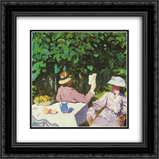 Morning Sunshine 20x20 Black or Gold Ornate Framed and Double Matted Art Print by Karoly Ferenczy