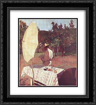 October 20x22 Black or Gold Ornate Framed and Double Matted Art Print by Karoly Ferenczy