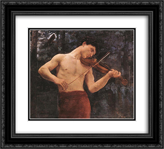 Orpheus 22x20 Black or Gold Ornate Framed and Double Matted Art Print by Karoly Ferenczy