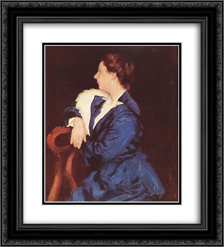 Portrait of Mrs. Sandor Ernst 20x22 Black or Gold Ornate Framed and Double Matted Art Print by Karoly Ferenczy
