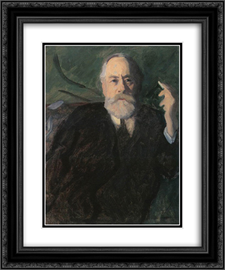 Portrait of Pal Szinyei Merse 20x24 Black or Gold Ornate Framed and Double Matted Art Print by Karoly Ferenczy