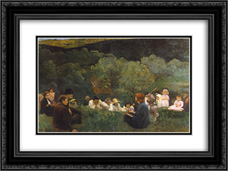 Sermon on the Mountain 24x18 Black or Gold Ornate Framed and Double Matted Art Print by Karoly Ferenczy