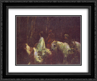The Three Magi 24x20 Black or Gold Ornate Framed and Double Matted Art Print by Karoly Ferenczy